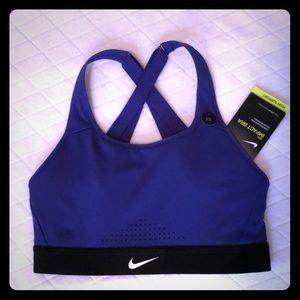 NWT Nike Impact Bra purple and black sz xs